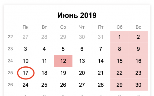Какой срок сдачи СЗВ-М за май 2019 года?