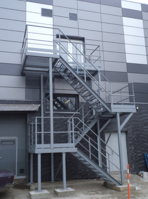 Пожарная лестница наружная: требования