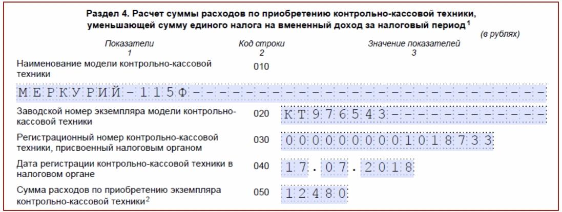 Нулевая декларация по ЕНВД 2018: образец заполнения